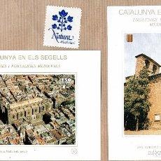 Sellos: CATALUNYA EN ELS SEGELLS - ESGLÈSIES I FORTALESES MEDIEVALS - BARCELONA VELLA 95 - ANY ARQUITECT 59 . Lote 64048767