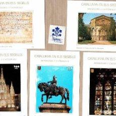 Sellos: CATALUNYA EN ELS SEGELLS - MONESTIRS I CATEDRALS - JAUME I - SANT JOAN ABADESSES - 55,57,92,93,94. Lote 64100835