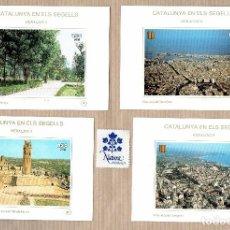 Sellos: CATALUNYA EN ELS SEGELLS - HERÀLDICA - LA SUDA LLEIDA - LA DEVESA - TARRAGONA 96,97,98,101. Lote 64101971