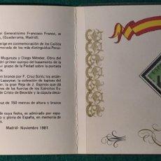 Sellos: FILATELIA RARA PRUEBA DE CARNET XXII ANIVERSARIO INAUGURACIÓN DEL VALLE DE LOS CAÍDOS.. Lote 69296118