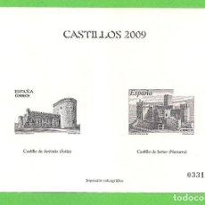 Sellos: IMPRESIÓN CALCOGRÁFICA - CASTILLOS - EDIFIL 4510-4511. (2009).**. Lote 76028731