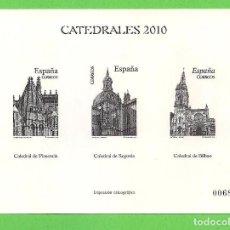 Sellos: IMPRESIÓN CALCOGRÁFICA - CATEDRALES - EDIFIL 4552-4580-4612. (2010).**. Lote 76029203