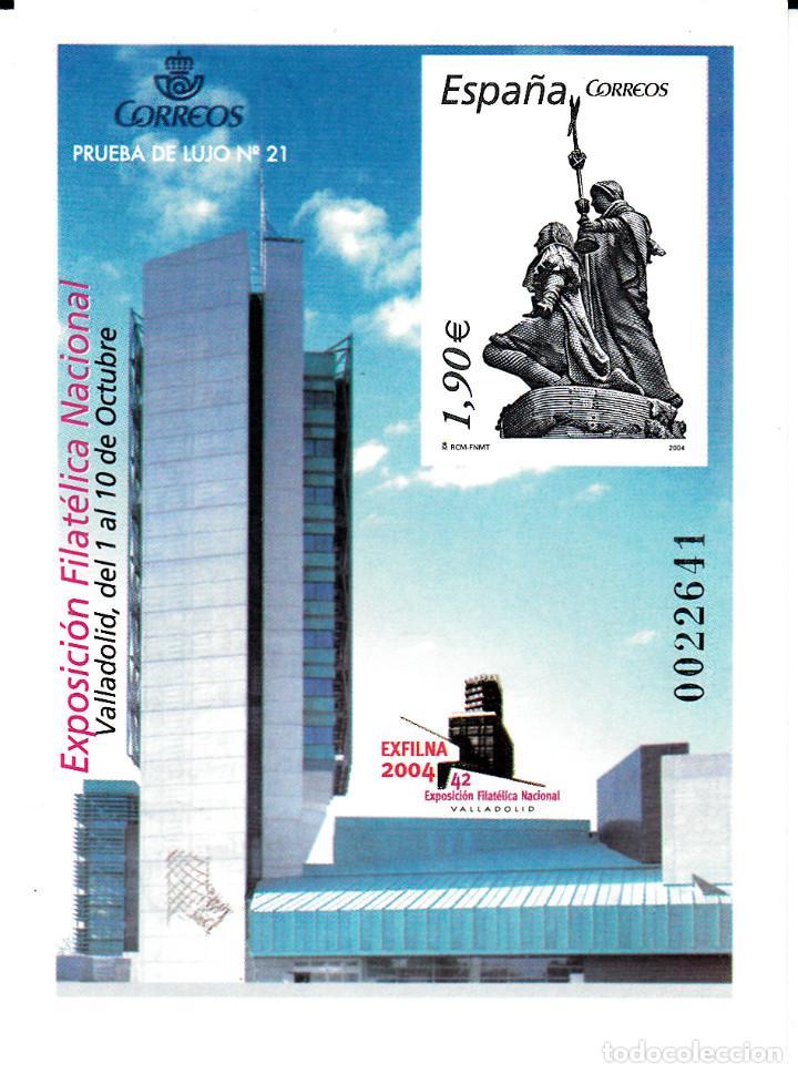 PRUEBA DE LUJO NUM. 21 EXFILNA 2004 VALLADOLID. (Sellos - España - Pruebas y Minipliegos)