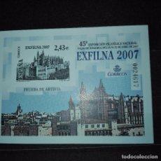 Sellos: ESPAÑA PRUEBA EXFILNA 2007. Lote 77882277