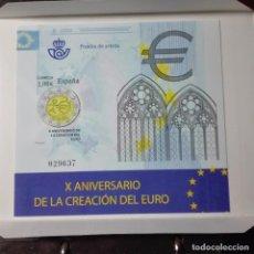 Sellos: ESPAÑA 2008 X ANIVERSARIO CREACION DEL EURO. Lote 77886757