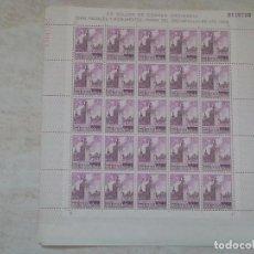 Selos: ANTIGUO PLIEGO DE 25 SELLOS SERIE PAISAJES Y MONUMENTOS TORRE DEL ORO SEVILLA 80 CENTIMOS AÑO 1966 . Lote 81972224