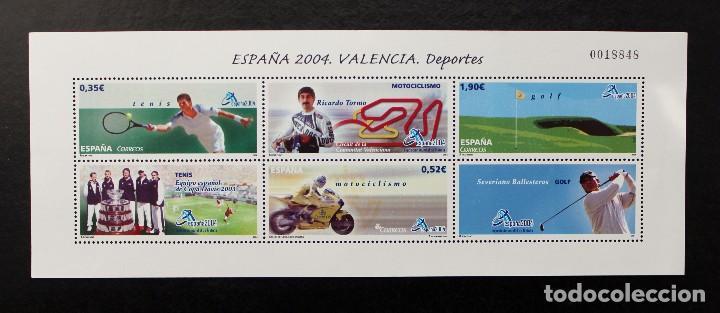 ESPAÑA 2004 EXPOSICION MUNDIAL DE FILATELIA EDIFIL 4091 (MINIPLIEGO) (Sellos - España - Pruebas y Minipliegos)