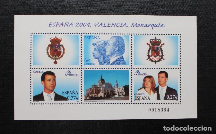 ESPAÑA 2004 EXPOSICION MUNDIAL DE FILATELIA EN VALENCIA (Sellos - España - Pruebas y Minipliegos)