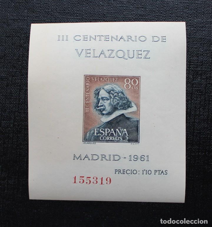Sellos: ESPAÑA 1961, EDIFIL 1344 AL 1347, CENTENARIO DE LA MUERTE DE VELASQUEZ, NUEVOS SIN FIJASELLOS ** - Foto 2 - 87541900
