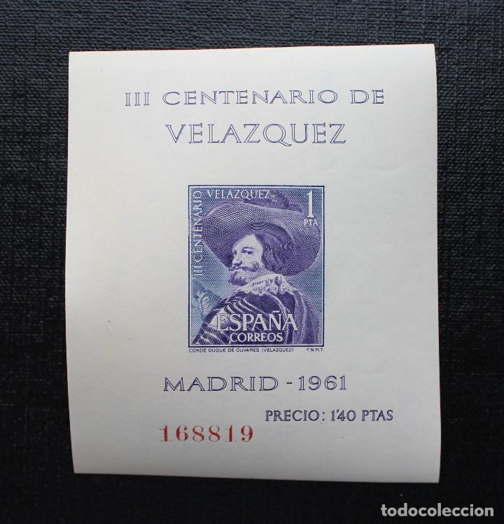 Sellos: ESPAÑA 1961, EDIFIL 1344 AL 1347, CENTENARIO DE LA MUERTE DE VELASQUEZ, NUEVOS SIN FIJASELLOS ** - Foto 3 - 87541900