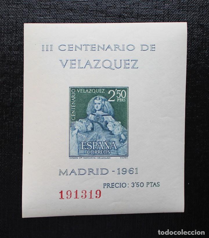Sellos: ESPAÑA 1961, EDIFIL 1344 AL 1347, CENTENARIO DE LA MUERTE DE VELASQUEZ, NUEVOS SIN FIJASELLOS ** - Foto 4 - 87541900