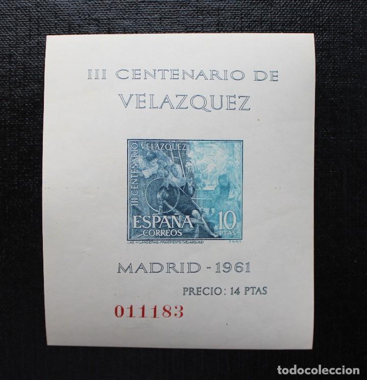 Sellos: ESPAÑA 1961, EDIFIL 1344 AL 1347, CENTENARIO DE LA MUERTE DE VELASQUEZ, NUEVOS SIN FIJASELLOS ** - Foto 5 - 87541900