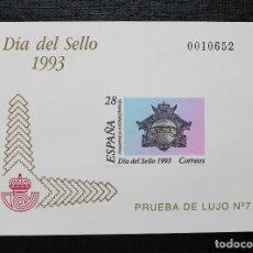 Sellos: ESPAÑA 1993, EDIFIL PRUEBA OFICIAL NUMERO 28, DIA DEL SELLO, NUEVO SIN FIJASELLOS **. Lote 87542468