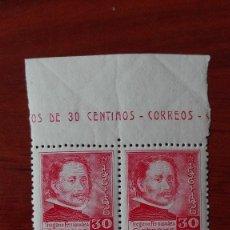Sellos: ESPAÑA 726** GREGORIO FERNÁNDEZ BLOQUE DE CUATRO LUJO BORDE DE HOJA. Lote 88892076