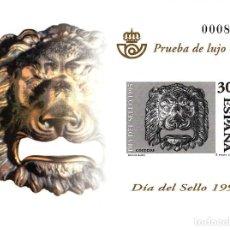 Sellos: PRUEBA DE LUJO NUMERO 9 DIA DEL SELLO 1995. Lote 93621130