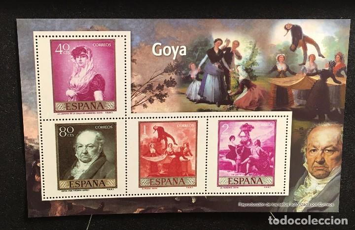 HOJA BLOQUE -GOYA- (Sellos - España - Pruebas y Minipliegos)