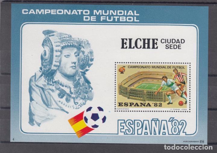 HOJA RECUERDO COPA MUNDIAL FUTBOL ESPAÑA 82 CIUDAD SEDE 4 ELCHE, NUEVO ESTADIO (Sellos - España - Pruebas y Minipliegos)