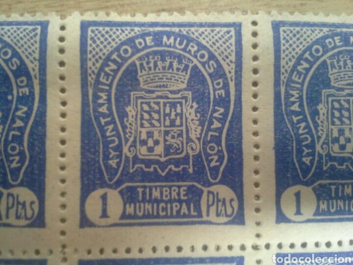 Sellos: minipliego sello local timbre municipal Sellos fiscales ayto de muros de Nalón - Foto 2 - 154204162