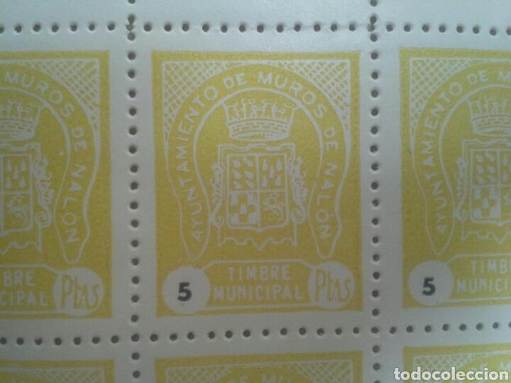 Sellos: minipliego Sello local timbre municipal sellos fiscales ayto de muros de Nalón Asturias - Foto 2 - 154204128