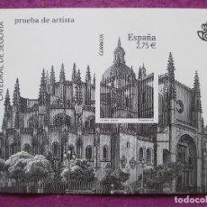 Sellos: PRUEBA DE ARTISTA, SELLO, CATEDRAL DE SEGOVIA, CORREOS. Lote 98220703
