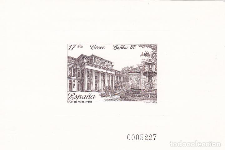 EXFILNA 85. PRUEBA OFICIAL. EDIFIL Nº 8. PERFECTA. (Sellos - España - Pruebas y Minipliegos)