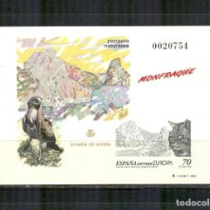 Sellos: PRUEBA 69 EUROPA 1999 PARQUE DE MONFRAGUE EXTREMADURA LINCE IBERICO 3628. Lote 99136443