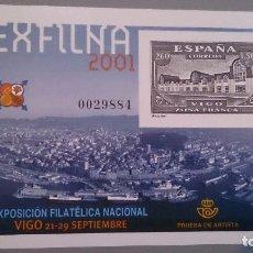 Sellos: ESPAÑA - 2001 - PRUEBAS OFICIALES - EDIFIL 75 - EXFILNA 2001 - MNH** - NUEVA.. Lote 101453615