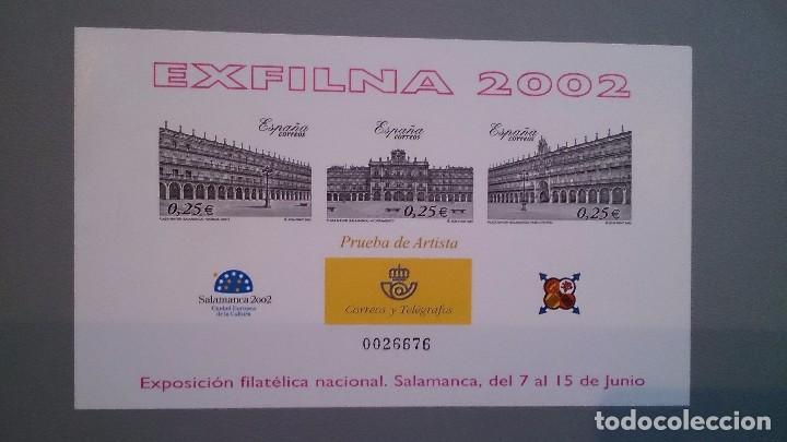 ESPAÑA - 2002 - PRUEBAS OFICIALES - EDIFIL 78 - EXFILNA 2002 - MNH** - NUEVA.PRUEBA DE ARTISTA LUJO. (Sellos - España - Pruebas y Minipliegos)