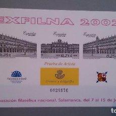 Sellos: ESPAÑA - 2002 - PRUEBAS OFICIALES - EDIFIL 78 - EXFILNA 2002 - MNH** - NUEVA.PRUEBA DE ARTISTA LUJO.. Lote 101454159