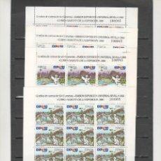 Sellos: ESPAÑA- MINIPLIEGOS 6/9 EXP. UNIVERSAL SEVILLA 92 (SEGÚN FOTO). Lote 175412564