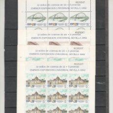 Sellos: ESPAÑA- MINIPLIEGOS 24/27 EXPOSICIÓN UNIVERSAL SEVILLA 92 CON EL MISMO Nº (SEGÚN FOTO). Lote 103402707