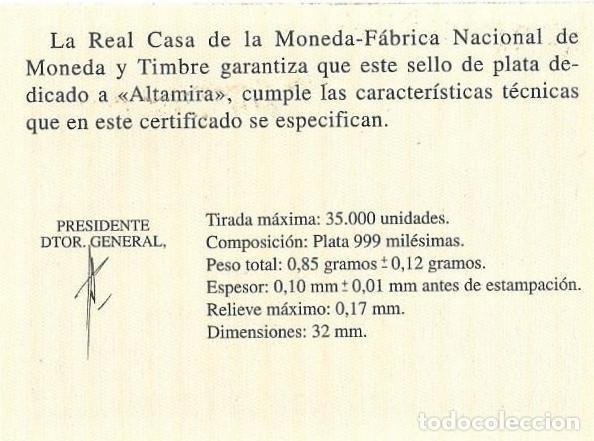 Sellos: ESPAÑA 2015 PRUEBA DE ARTISTA CUEVA DE ALTAMIRA SELLO DE PLATA - Foto 3 - 103819055