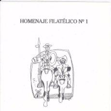 Sellos: HOMENAJE FILATELICO Nº1 PRUEBA DE ANTONIO MINGOTE - DON QUIJOTE Y SANCHO PANZA. Lote 103961891