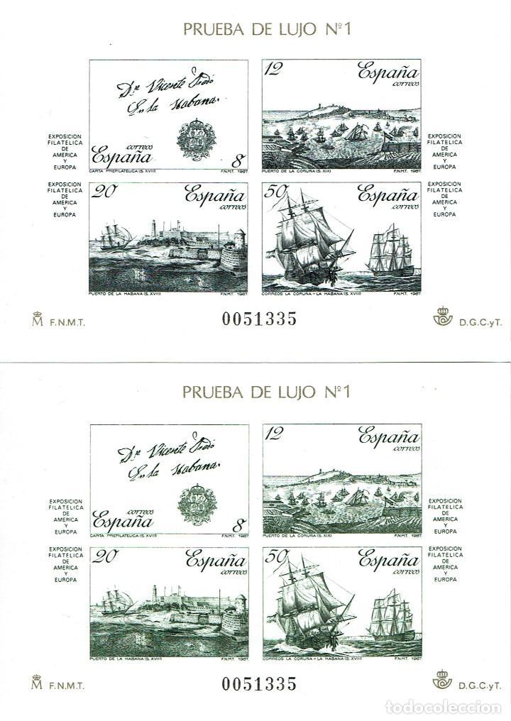 PRUEBAS DE LUJO 1987. ESPAMER 87 (Sellos - España - Pruebas y Minipliegos)