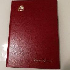 """Sellos: LIBRO OFICIAL CONCIERTO EXPOSICION MUNDIAL FILATÉLIA 1984-SOBRECARGADAS """"CONCIERTO"""" PRUEBAS LUJO 6/7. Lote 106556611"""