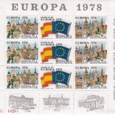 Sellos: HOJA RECUERDO XI FERIA DEL SELLO 1978 - EUROPA 1978. Lote 107351179