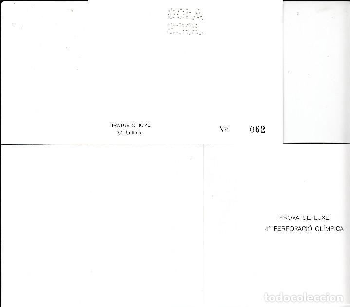 Sellos: BARCELONA 92 PRUEBA DE LUJO DEL PERFORADO A 100 JOCS - Foto 2 - 107432087
