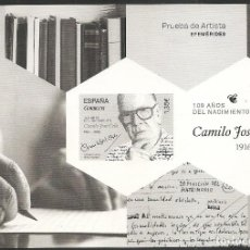 Sellos: 2017-PRUEBA OFICIAL Nº 132-100 AÑOS NACIMIENTO CAMILO J. CELA -. Lote 110246011