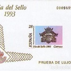 Sellos: [EF0008] ESPAÑA 1993, PRUEBA DE LUJO 7: DÍA DEL SELLO (MNH). Lote 110728451