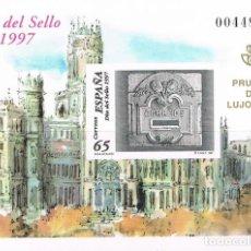 Sellos: [EF0019] ESPAÑA 1997, PRUEBA DE LUJO 13: DÍA DEL SELLO (MNH). Lote 110819627