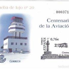 Sellos: PRUEBA DE LUJO Nº 82 DEL CENTENARIO DE LA AVIACION. Lote 112977339