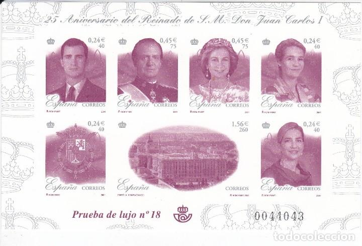 PRUEBA DE LUJO Nº 76 DEL 25 ANIVERSARIO DEL REINADO DE JUAN CARLOS I (Sellos - España - Pruebas y Minipliegos)