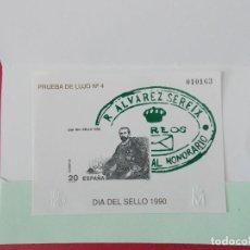 Sellos: BONITA PRUEBA DE LUJO Nº 4 - DIA DEL SELLO 1990 .... R-8685. Lote 115394175