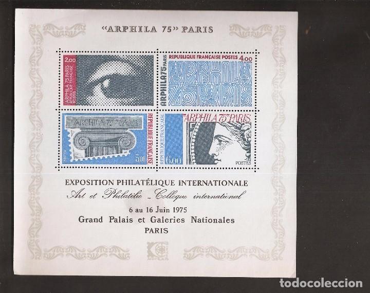 PRECIOSO MINIPLIEGO ARPHILA 1975- EL DE LA FOTO VER TODOS MIS SELLOS Y TARJETAS (Sellos - España - Pruebas y Minipliegos)