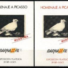 Sellos: ESPAÑA, HOJAS RECUERDO, MUESTRA, BARNAFIL, HOMENAJE A PICASSO, 1978. Lote 118706711