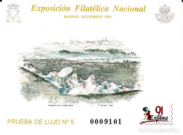 PRUEBA OFICIAL NÚMERO 24 EXFILNA 91 (Sellos - España - Pruebas y Minipliegos)