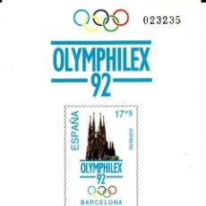 Sellos: PRUEBA OFICIAL NÚMERO 26 OLYMPHILEX 92. Lote 142685366