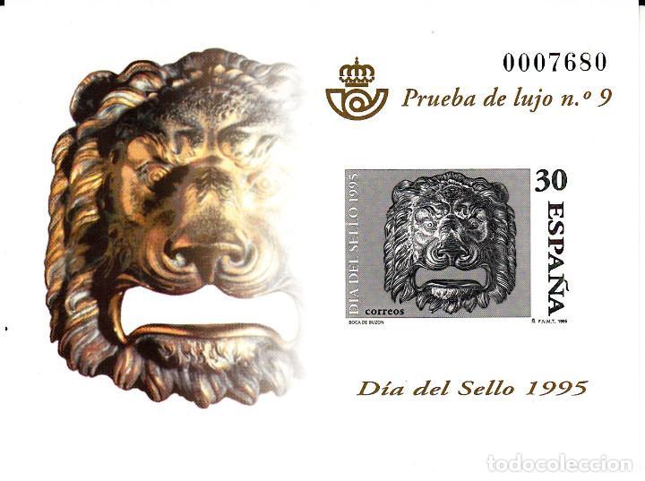 PRUEBA OFICIAL NÚMERO 34 DIA DEL SELLO 1995 (Sellos - España - Pruebas y Minipliegos)