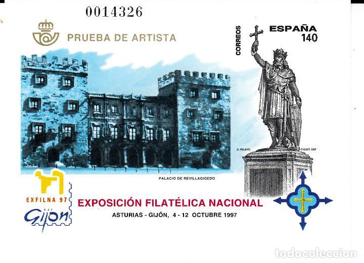 PRUEBA OFICIAL NUMERO 64 EXFILNA 97 GIJON (Sellos - España - Pruebas y Minipliegos)