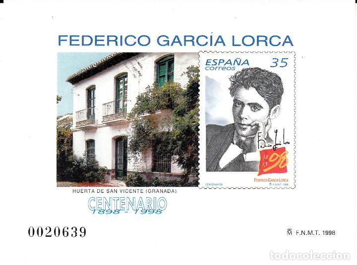 PRUEBA OFICIAL NUMERO 65 FEDERICO GARCIA LORCA (Sellos - España - Pruebas y Minipliegos)